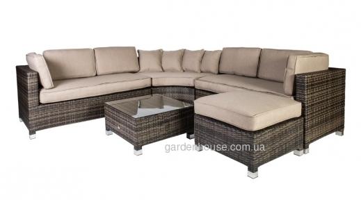 Угловой диванный набор Dawson из искусственного ротанга