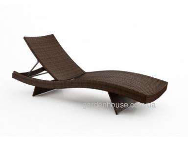 Шезлонг Mara Modern из искусственного ротанга, коричневый