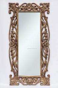 Зеркало Toledo, тиковое дерево 180х90 см (античный коричневый, прованс)