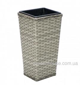 Садовая ваза Geneva из искусственного ротанга (38хх38х77 см, 32х32х66, 27х27х55)