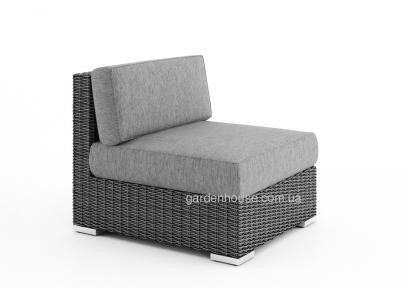 Центральный  модуль мебельной системы Milano Royal из техноротанга