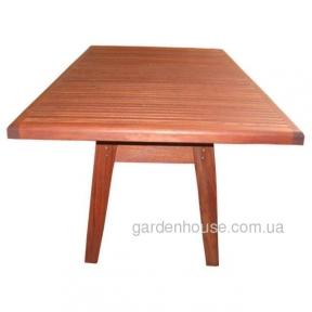Прямоугольный садовый стол Nadia Picnic из мербау 160х105 см