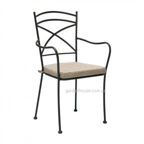 Металлический стул Riviera с подлокотниками и подушкой, штабелируется