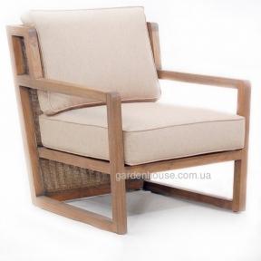 Кресло тиковое Zia с текстилем