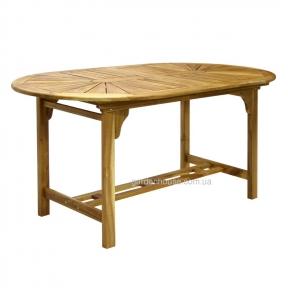 Овальный раскладной стол Finlay из массива акации 153/195x90xH72 см