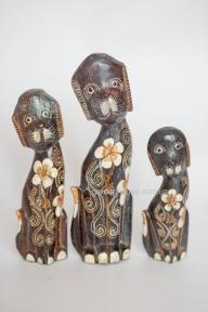 Набор статуэток расписных собак 30, 25 и 20 см