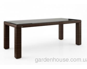 Обеденный стол Rapallo Modern из техноротанга со стеклом
