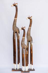 Напольная статуэтка жирафа Малах из дерева (120, 150 см)