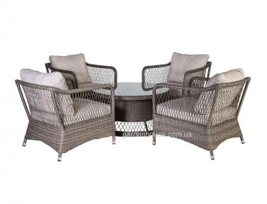 Ротанговый комплект для отдыха Sunsera: 4 кресла и кофейный столик