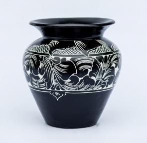 Ваза черно-белая Dynos, керамика (50 см, 40 см, 30 см)