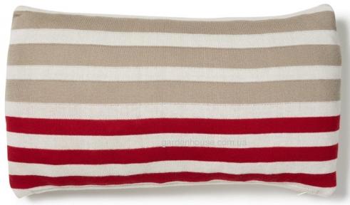 Трикотажная декоративная подушка Aran 30x50 см в полоску
