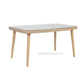 Обеденный стол Ретро из техноротанга 150x90xH75 cм