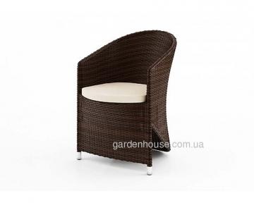 Кресло Dolce Vita из искусственного ротанга, коричневый Modern