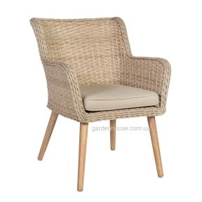 Обеденное садовое кресло Retro из искусственного ротанга