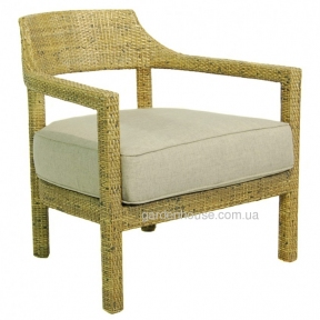 Кресло Darrel из натурального ротанга с текстилем