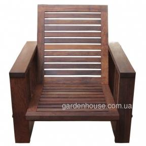 Большое садовое кресло Single Lounge из мербау