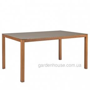 Обеденный стол Sailor из алюминия со стеклом