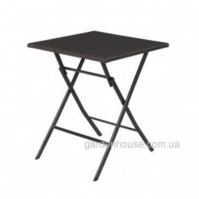 Складной стол Nico из искусственного ротанга, темно-серый