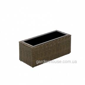Кашпо ротанговое Wicker 47x20x19 см (черный, коричневый)