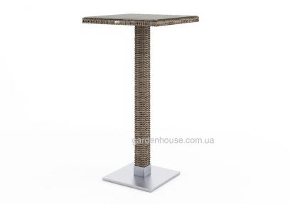 Стол барный Quadro из техноротанга со стеклом, 110 см