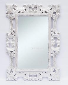 Зеркало Ajur 120х80 см (белый, прованс коричневый)