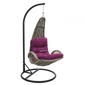 Подвесное кресло Tempio из искусственного ротанга, серый