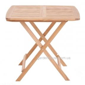 Складной обеденный стол Rimini из тика 120х80 см