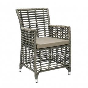Плетеное кресло Zenica из искусственного ротанга, серый