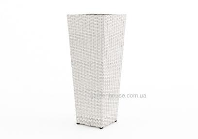 Цветочная ваза Scatola из искусственного ротанга 41х41х100 см (белый, бежевый, серый, коричневый)