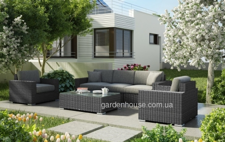 Модульная система садовой мебели Milano Royal из искусственного ротанга