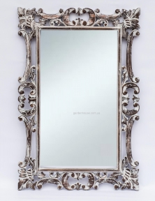 Зеркало Ajur в резной раме, 100х70 см (прованс, белый)
