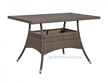 Садовый стол Paloma из техноротанга (коричнево-серый), 150 см