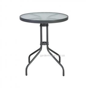 Круглый стол со стеклом Bistro Ø 60 см, серый