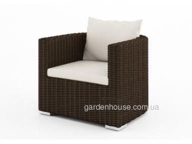 Садовое кресло Venezia Royal из искусственного ротанга, закругленное