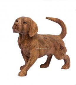 Эксклюзивная резная статуэтка собаки