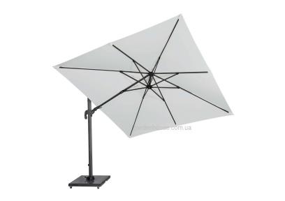 Квадрантный садовый зонт SolarFlex T2 3х3 м с основанием Modena (белый, коричневый, антрацит)