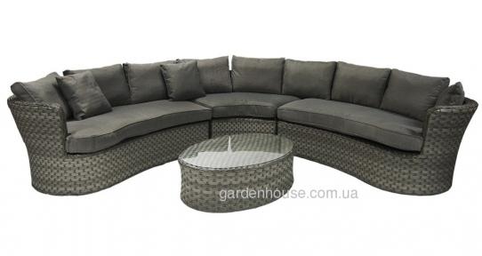 Модульный набор мебели с угловым диваном Geneva из искусственного ротанга