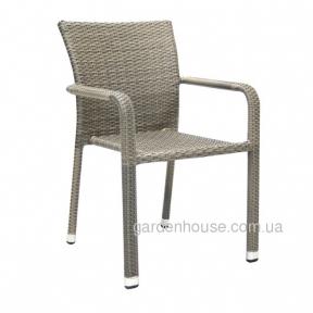 Садовый стул Larache из искусственного ротанга, серо-бежевый
