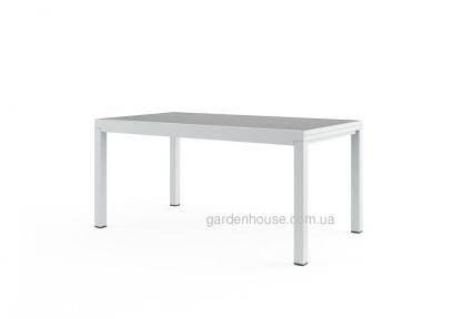 Стол обеденный раздвижной Toledo из алюминия, белый