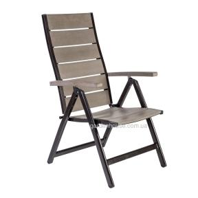 Садовый стул с регулируемой спинкой Monta из алюминия и артвуда