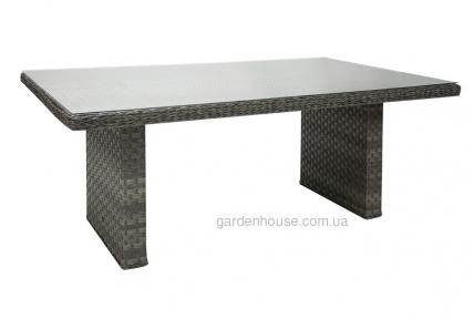 Прямоугольный обеденный стол Geneva из искусственного ротанга 192 см