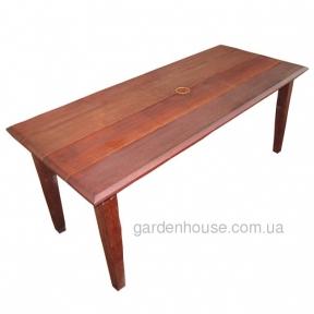 Прямоугольный обеденный стол Heron из мербау 180 см
