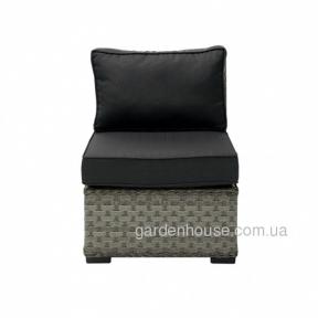 Прямой диванный модуль Geneva из искусственного ротанга