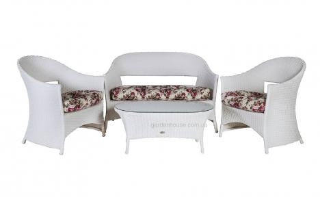 Комплект садовой мебели для отдыха Whistler из искусственного ротанга, белый
