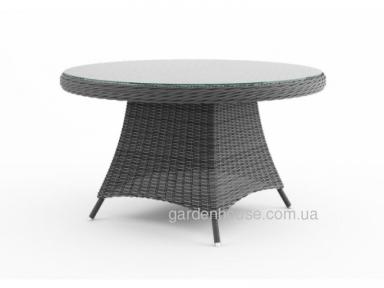 Обеденный стол Rondo из техноротанга Ø 130см