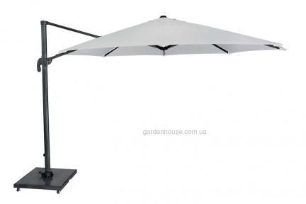 Садовый зонт SolarFlex T1 Ø 3,5 м с основанием Modena (белый, коричневый, антрацит)