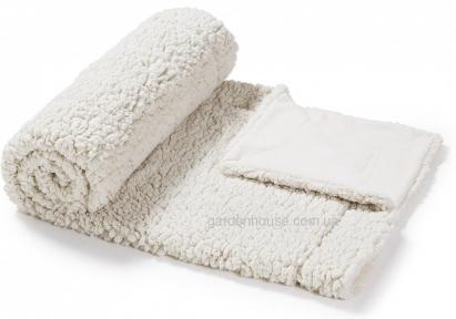 Плед Cora из искусственного меха 120x160 см, белый