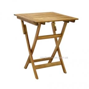 Складной садовый стол Finlay из дерева акации 60x60xH72 см