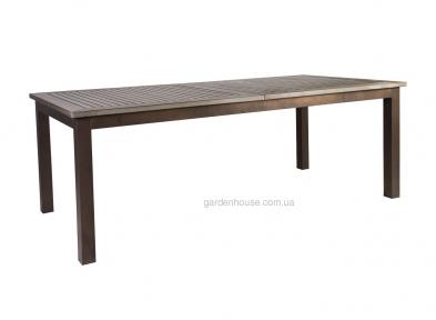 Раздвижной обеденный стол Monta из алюминия и искусственного дерева 152/210x90xH76 cм