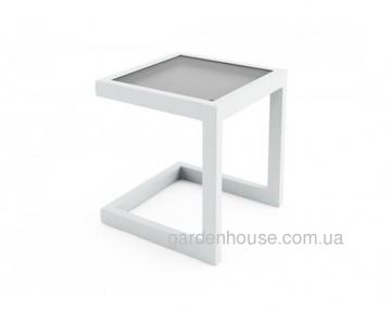Приставной столик Grenada из алюминия, белый
